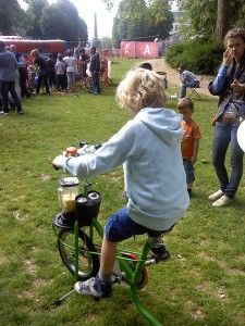 Sapjesfiets Antwerpen juli Stadspark